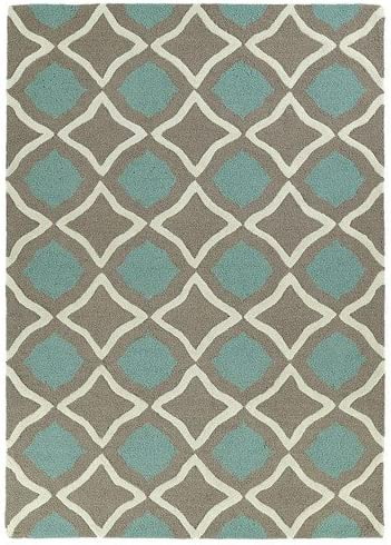 Kaleen Rugs Spaces Collection SPA04-82 Light Brown Hand Tufted Rug, 8 x 10
