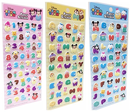 Disney Tsum Tsum 3D Puffy Stickers for Kids and Toddlers Var