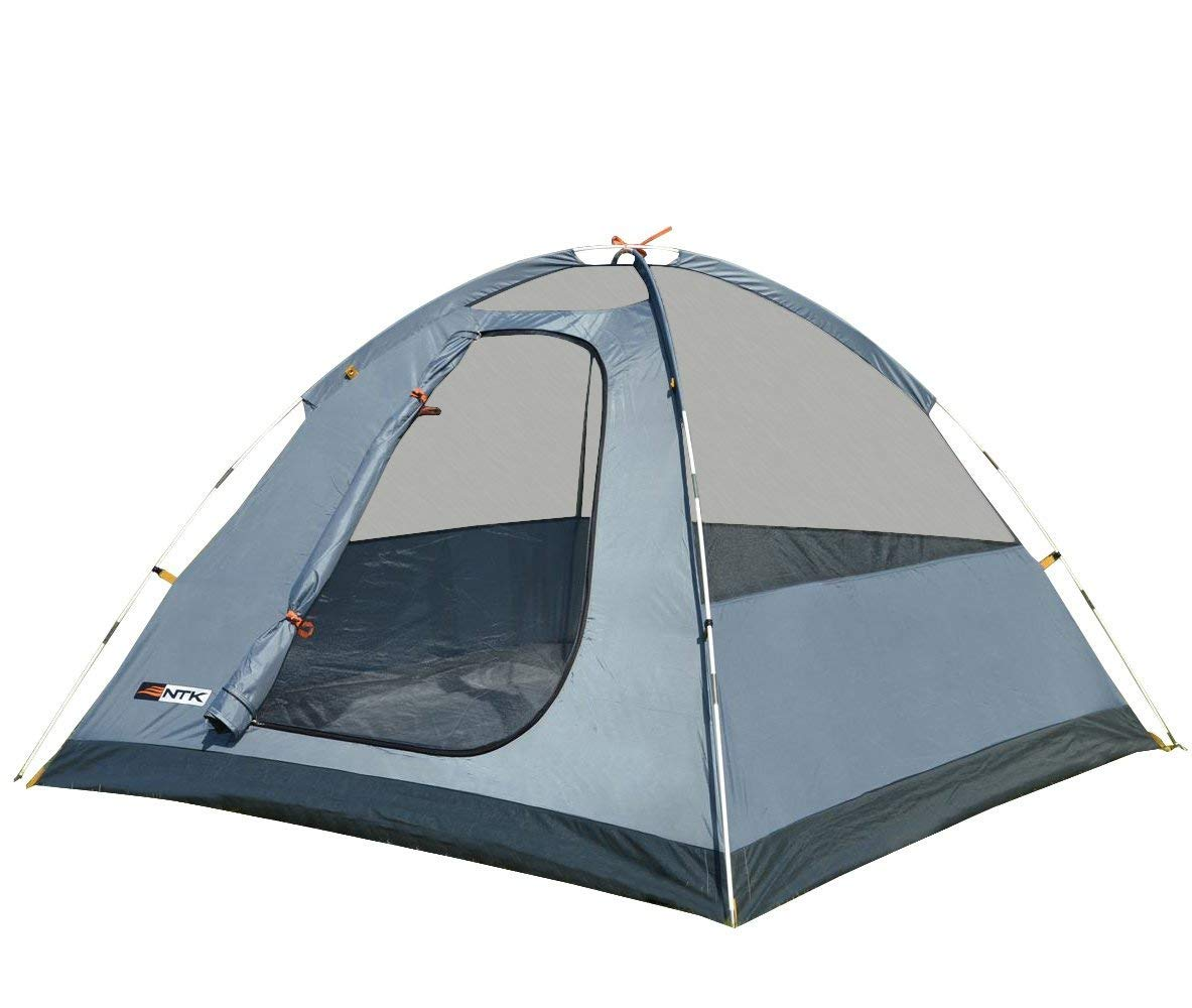 NTK Savannah GT 5 to 6 Person 9.8 by 9.8 Foot Outdoor Dome Family Camping Tent 100 Waterproof 2500mm, Easy Assembly, Durable Fabric Full Coverage Versatile Rainfly, Micro Mosquito Mesh.