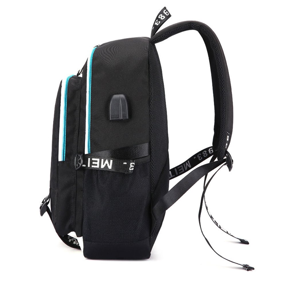 Amazon.com: Kpop BTS Backpack Student Middle School College Bag Laptop Backpack for Women Men with USB Charging Port: Hai Lin Fashion
