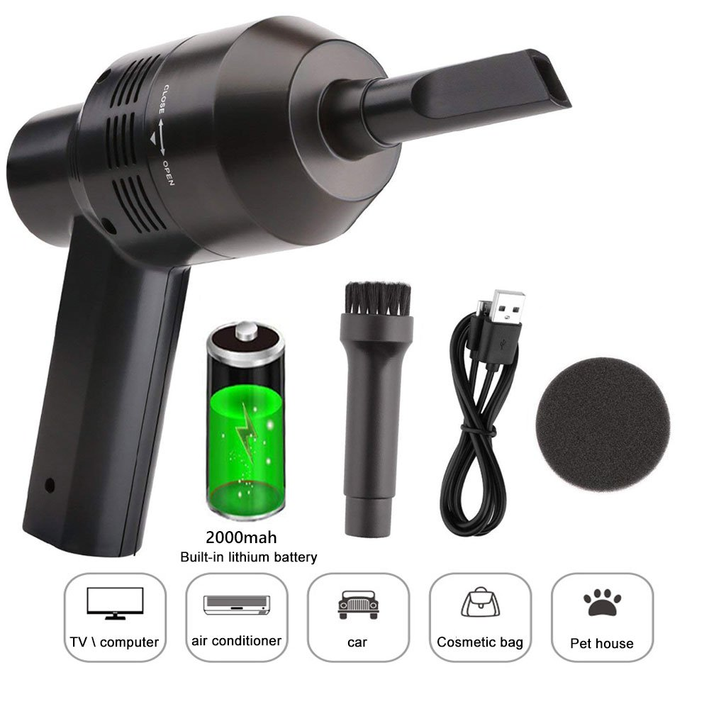Keyboard Cleaner Powerful Rechargeable Mini Vacuum Cleaner,Cordless Portable Vacuum-Best Cleaner Tool for Cleaning Dust, Hairs, Crumbs, Scraps for Laptop, Piano, Computer, Car, Makeup Bag, Pet House