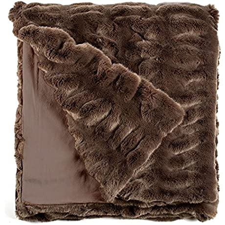 Fabulous Furs Faux Fur Luxury Throw Blanket Taupe Mink Available In Generous Sizes 60 X60 60 X72 And 60 X86 By Donna Salyers