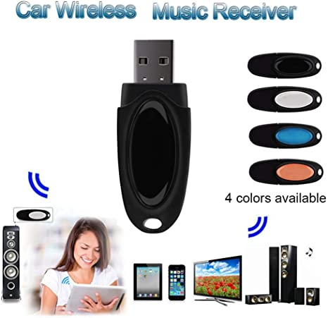 USB Bluetooth Stereo Audio Music Wireless Receiver Adapter For Car Home Speakers
