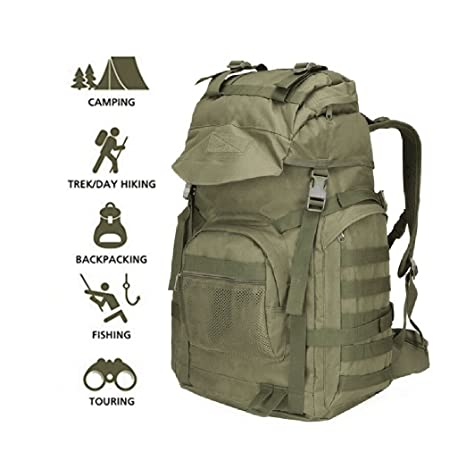cf4c6c66fc 70L Military Tactical Backpack Large Army 3 Day Assault Pack Molle Backpacks  Rucksacks for Outdoor Hiking