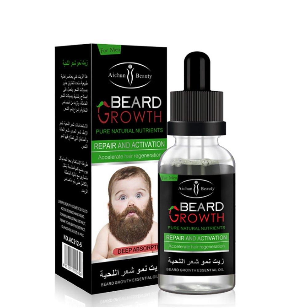 Beards Growth Elixir, KISSION Natural & Organic Oil Beard Beard Balm Wax Man's Beard Soft And Stops Beard Itch