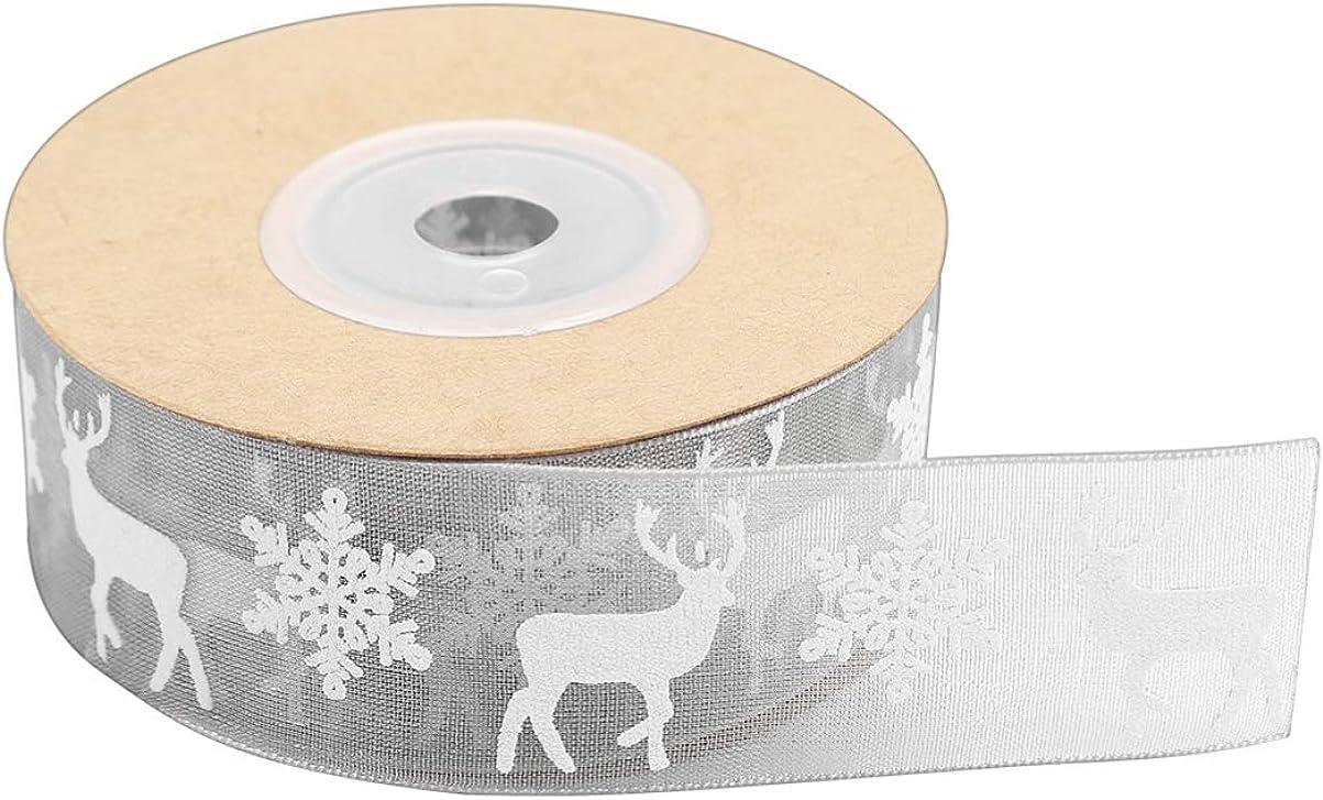 BESPORTBLE Nastro di Organza Fai da Te Elk Bomboniera da Imballaggio Nastro da Imballaggio per Natale 10 M