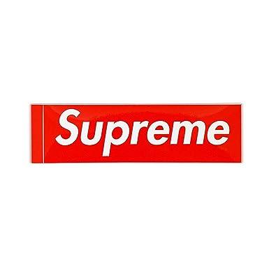 Supreme(シュプリーム) ボックスロゴ ステッカー レッド ワンサイズ