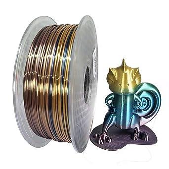 Fasmov Silk Rainbow Filamento de impresora 3D multicolor PLA 1.75 ...