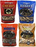 wood chips for smokers hickory - Western BBQ Smoking Wood Chips Variety Pack Bundle (4) Cherry, Hickory, Mesquite and Pecan Flavors (Cherry, Mesquite, Hickory, Pecan)
