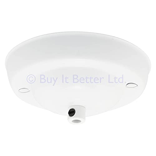 Ceiling Rose Cable Grip Flex Clamp Plate For Light Fitting Pendant 108mm Dia White