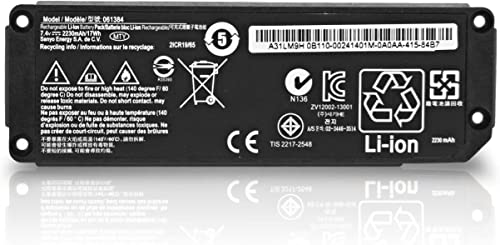 ZTHY 7.4V 2230mAh 17Wh 2cell Replacement 061384 Speaker Battery for Bose Soundlink Mini Bluetooth Wireless Speaker I one Model 061386 063404 063287 061385 Series