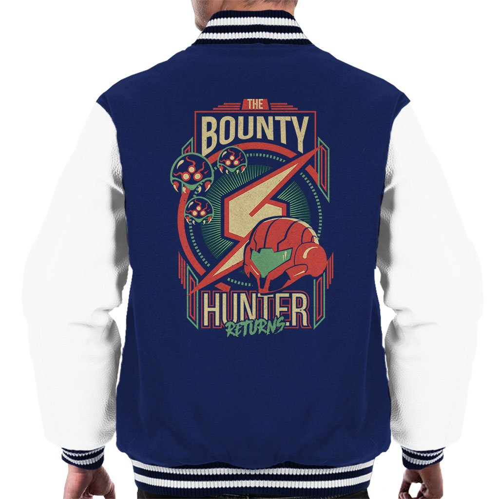 Samus The Bounty Hunter Returns Mens Varsity Jacket