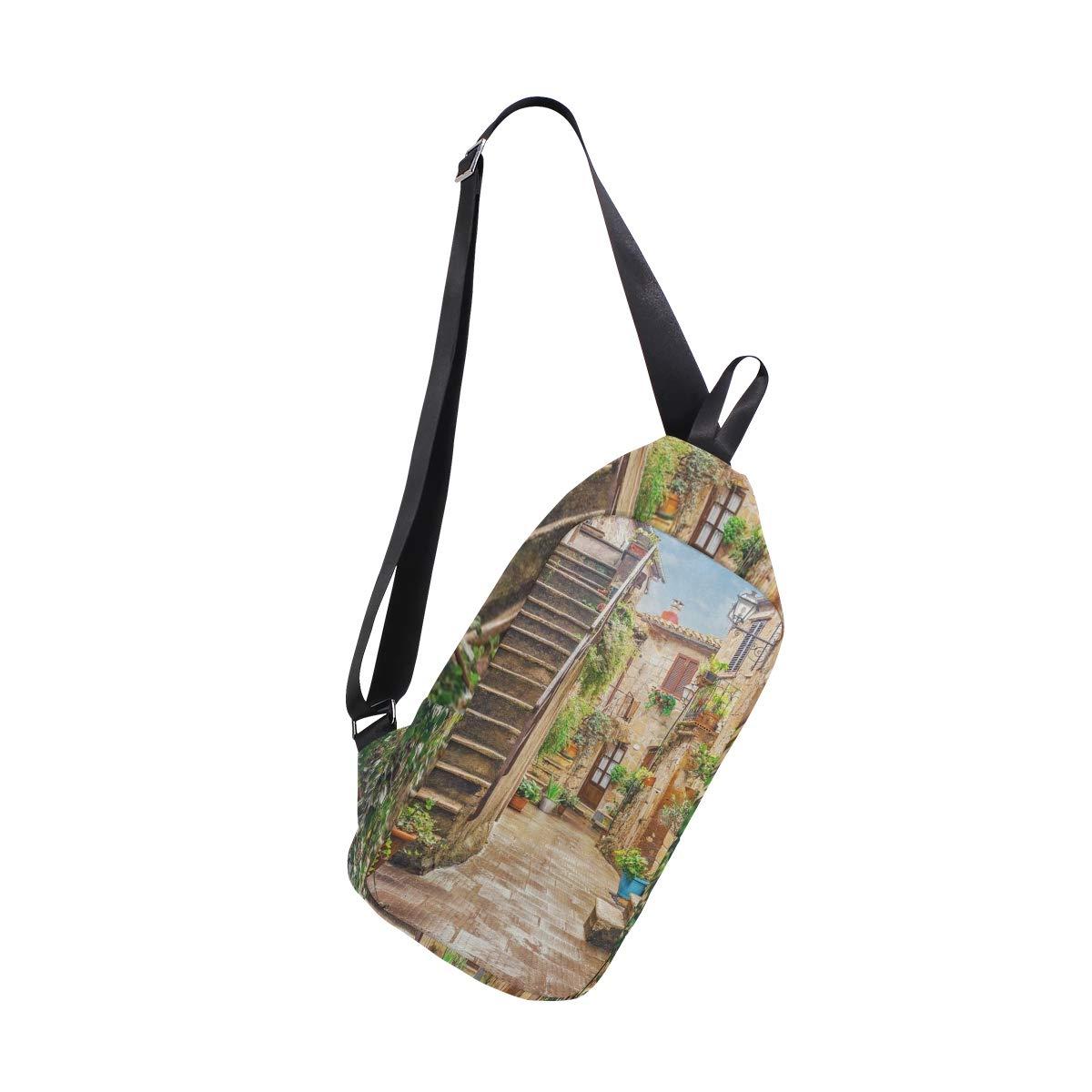 Sling Bag Bear And Moon Womens Chest Shoulder Backpacks Crossbody Casual Bag Pack