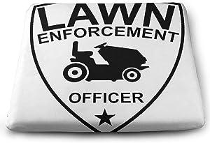 CUTEDWARF Lawn Enforcement Officer2 Family Square Seat Cushion Chair Cushion Office Furniture Decorative Cushion