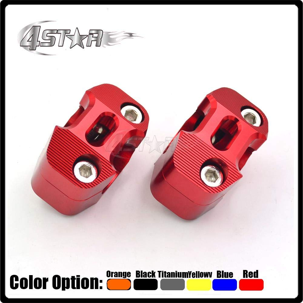 Grips Motorcycle 7//8 to 1 1//8 Fat Bar Risers Mount Clamp Adapter for CR CRF CR125 CR250 CRF250 CRF450 XR250 CR85 CR500 CRF150 CRF230