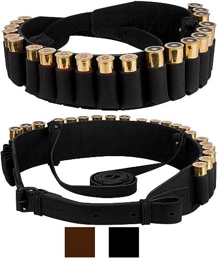 Tactical 25 Rounds Rifle Cartridge Belt 9 Shells Ammo Bullet Holder Buttstock