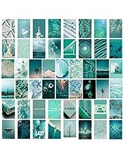 SAVITA 50 Stuks Collage Posters Kit voor Muur Esthetische, Dromerige Blauwe Esthetische Foto's voor Esthetische Muur Collage Kit Prints, Kamer Muur Kunst Decoratie