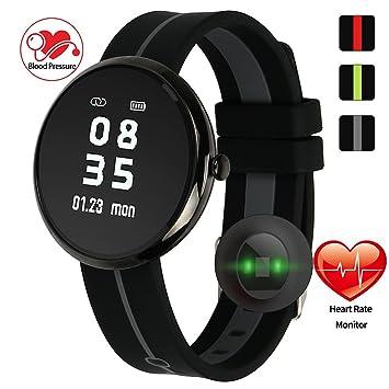 Relógio SmartWatch V06S Fitness Monitor de Frequência Cardíaca Pressão  Sanguínea Android Ios IP67 (PRETO  31aabae44a