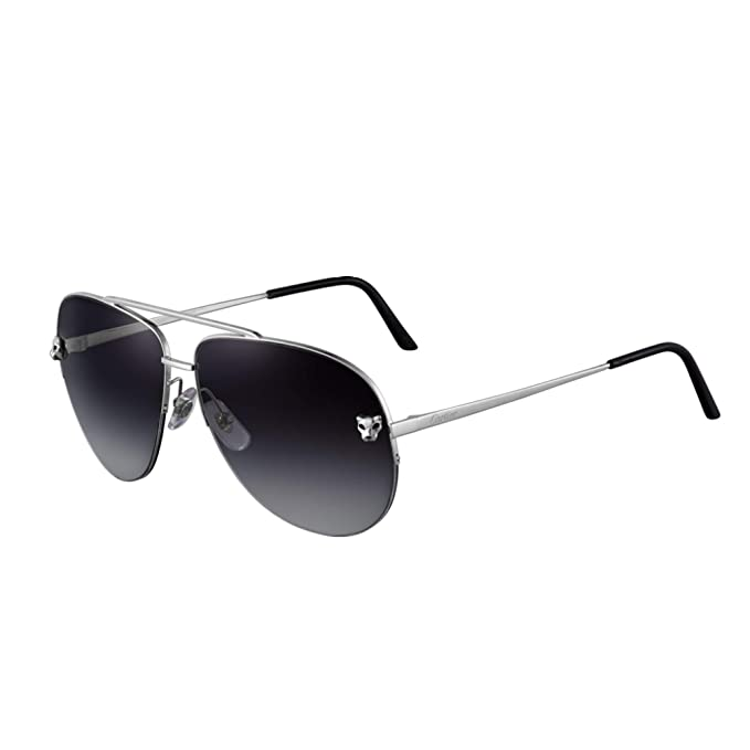 fccd1e6a5822d Cartier Panthere Pilote Double Brigde Metal Unisex Sunglasses ESW00095   Amazon.ca  Clothing   Accessories