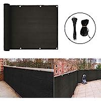 zimo Balcony Privacy Screen Balcony Shield for Porch Deck Outdoor Backyard Patio Balcony Black (3'x16.4')