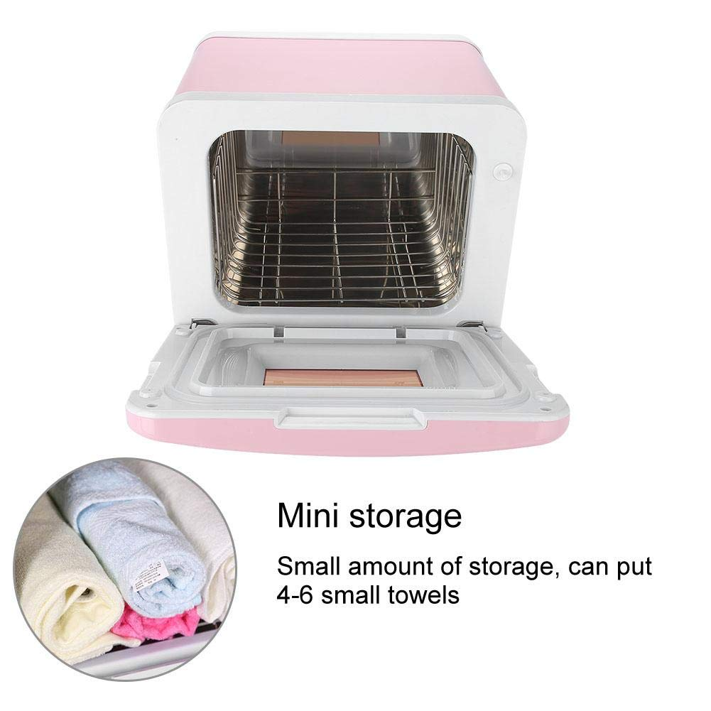 Sterilizer Cabinet, Mini Towel Warming Disinfection Cabinet Heating Sterilization Machine for Spa Massage Tools, Clothing, Towel (Pink) by TMISHION (Image #6)