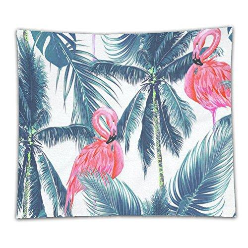 beshowereb manta de forro polar Tropical hojas de palma decoración del hogar tapices arte flamenco rosa pájaro Art Sets