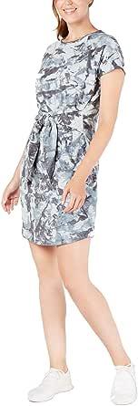 Ideology Womens Tie-Dye Tie Front Dress