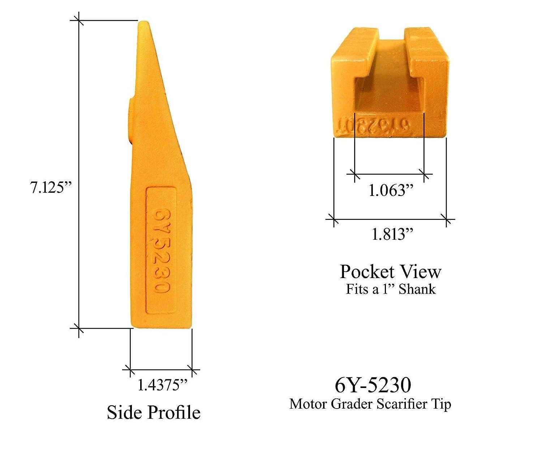 John Deere T6Y5230 Scarifier Ripper Tip Cat//JD Motor Graders 2D-5572 6Y-5230