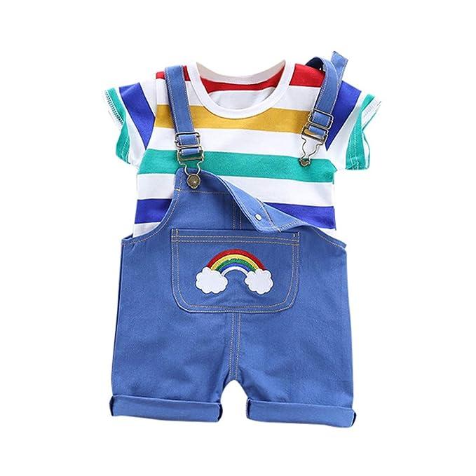 HucodeVan Moda Trajes Ropa para Bebé Niño Niñas Rayas de ...