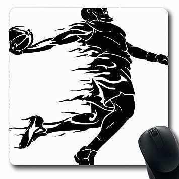 Alfombrilla de ratón Oblonada Teniendo Fuego Baloncesto Dunk ...
