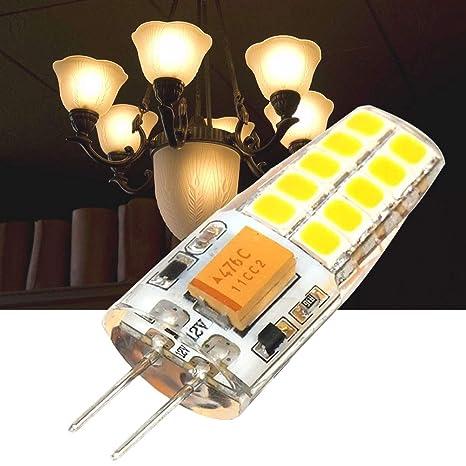 6 bombillas LED G4 de 12 V 3 W halógenas de repuesto de luz blanca cálida