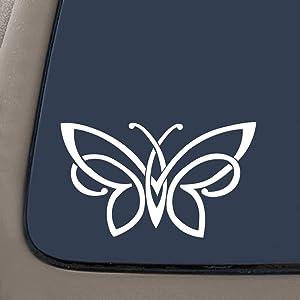 "NI143 Celtic knot butterfly vinyl decal bumper sticker | 6"" X 3.5"" | Premium Vinyl Decal"