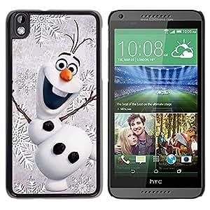 Caucho caso de Shell duro de la cubierta de accesorios de protección BY RAYDREAMMM - HTC DESIRE 816 - Christmas Winter Children'S Happy