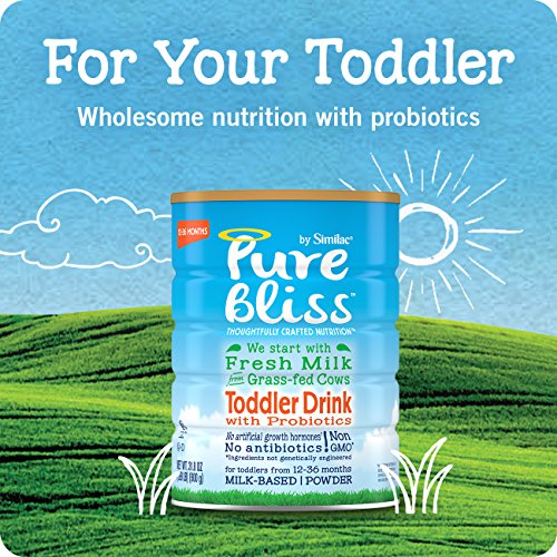 Pure Bliss by Similac Toddler Drink with Probiotics, Starts with Fresh Milk from Grass-Fed Cows, 12.4 ounces (Pack of 4) by Similac (Image #4)
