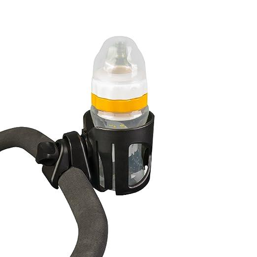 Portavasos, Fushop portavasos para cochecito, silla de ruedas, silla de oficina, vespa, jaula de la botella de agua(NEGRO): Amazon.es: Bebé