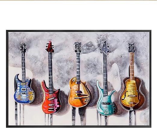 WSNDGWS Retro Nostálgico Gran Mural Rock Música Tablero de Madera ...