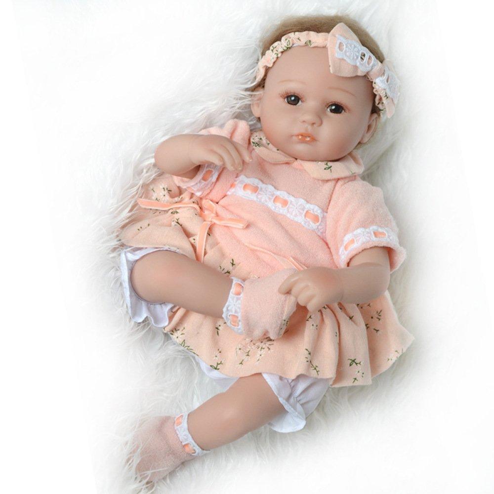 GAOYY Simulación Renacimiento Muñeca Paño Cuerpo De Silicona Baby Rebirth Doll 45cm Niños Playmate,45cm