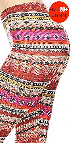 Fair Legging Isle (8Layer's Women's Fashion Leggings (Fair Isle Purple))