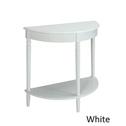 Awe Inspiring Amazon Com White Semi Circle Demilune Table For Small Unemploymentrelief Wooden Chair Designs For Living Room Unemploymentrelieforg