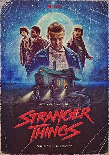 Posters Elite's Stranger Things Season One Retro TV Show The Upside Down 12 x 18 Inch Poster Print Rolled Wall Decor from Posters Elite