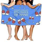 TONIGHT'S FORECAST;99% CHANCE OF WINE Funny Bath Beach Towel