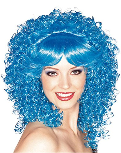 Rubie's Costume Candy Girl Curly with Bangs Wig, Blue, One (Bubble Witch Costume)