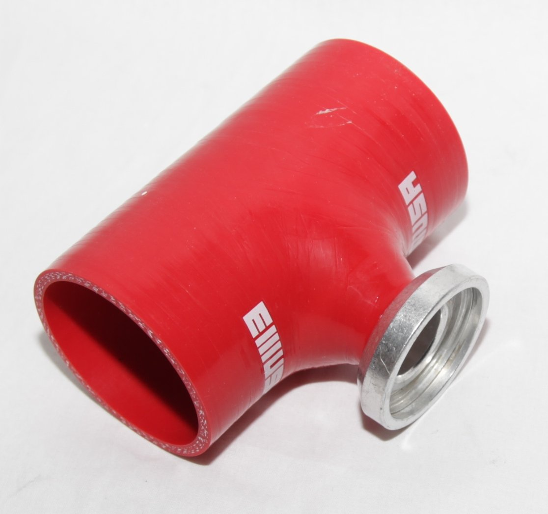 3, RED EMUSA Blow Off Valve Bov 3 Silicone Coupler Tube Hose Pipe SSQV SQV Flange Adapter Turbo Charger