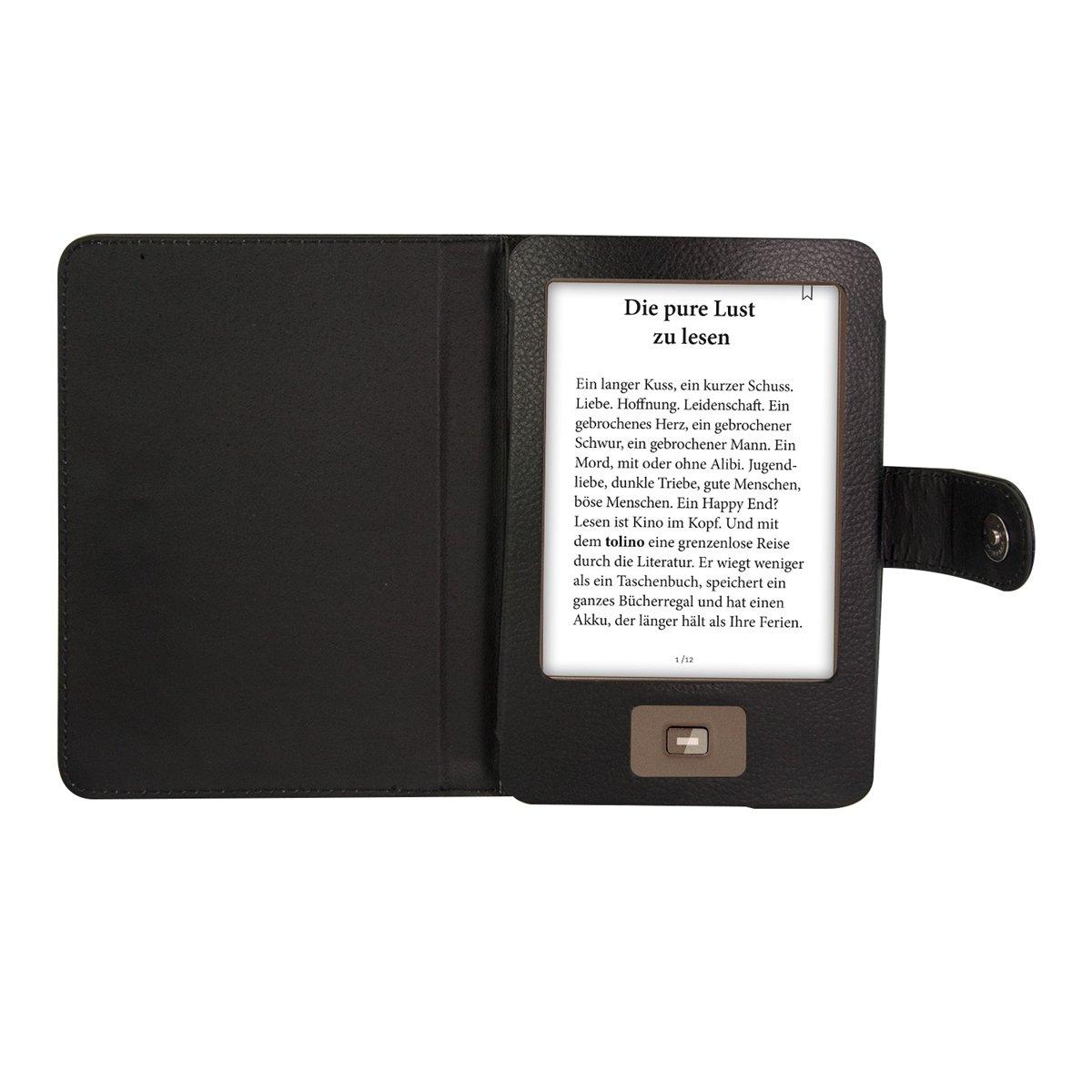 kwmobile Funda potectora de Cuero sintético práctica Book Style ...