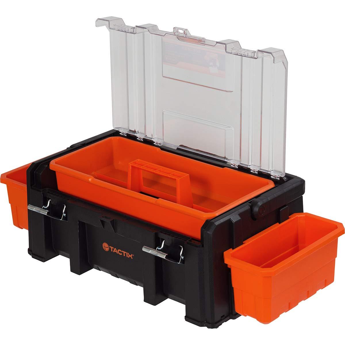 Werkzeugtasche Werkzeugkiste Kunststoff Schultergurt Alu Griff 57 x 30 x 25 cm