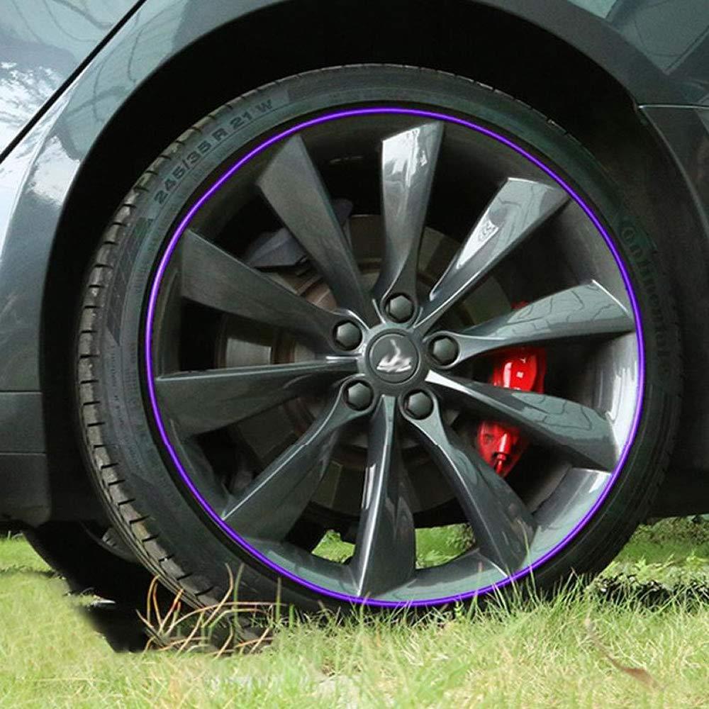 Full Kit Rim Protection Wheel Bands Red in Black Pinstripe Rim Edge Trim Fit for Tesla Model 3 Model S Model X Red