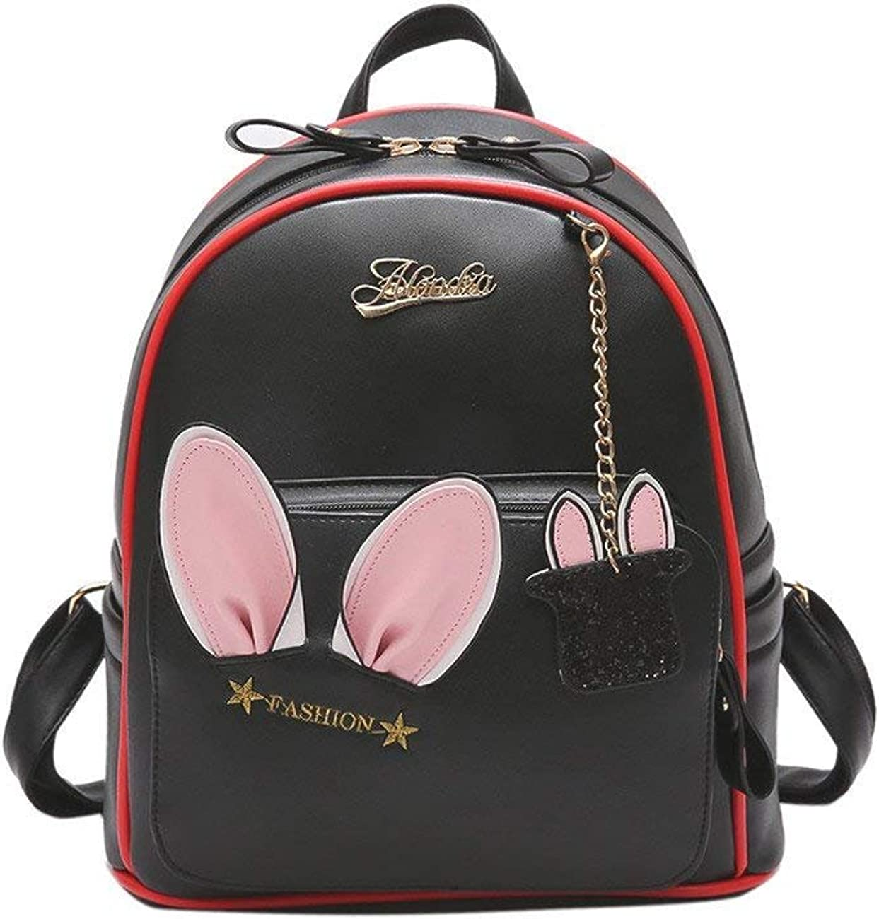 Zhao Liang Womens Backpack Stylish Cute Animal Patchwork All Match Back Bag