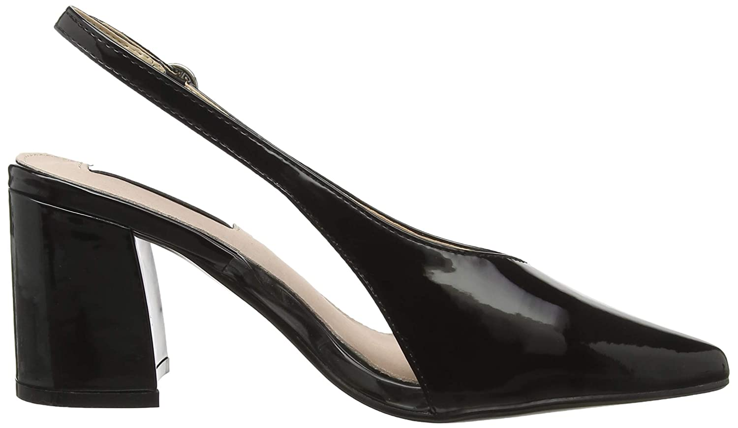 8d277c8bcad Lost Ink Women s Amy Perspex Block Heel Sling (Wide Fit) Back   Amazon.co.uk  Shoes   Bags