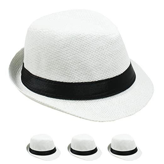 53c426c1 Amazon.com: LAFashionist Kids Boy Girls Straw Fedora Hat Summer ...