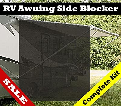 7x9 RV awning SIDE Blocker -Installation kits included